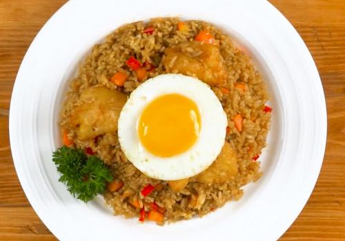 Resep Nasi Goreng Rendang Ayam Crispy