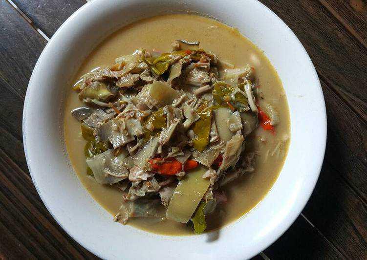 Resep Masakan Sayur jantung pisang cakalang (Sulawesi Utara)